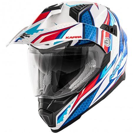 Casco integrale KV30 Enduro Ride bianco lucido / rosso / blu