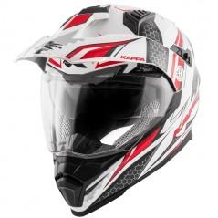 Casco integrale KV30 Enduro Ride bianco lucido / rosso / nero