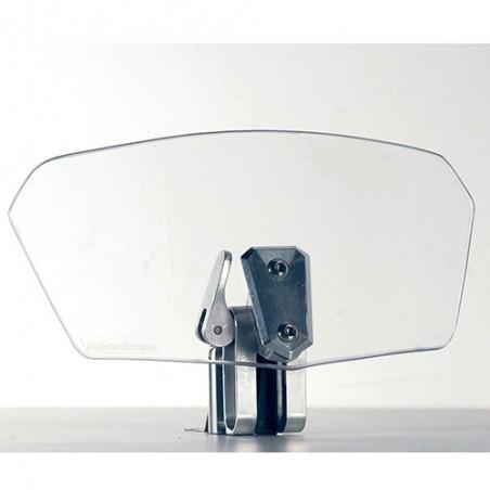 Spoiler universale trasparente da montare sui cupolini / parabrezza