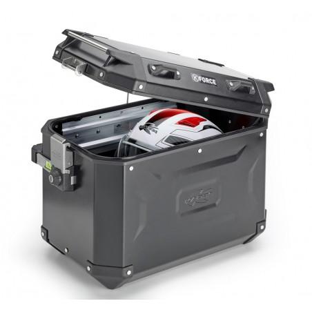 Coppia di valigie laterali Kappa in alluminio verniciato nero 48lt