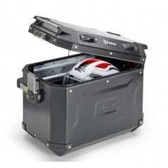 Valigia laterale Kappa sinistra in alluminio verniciato nero 48lt