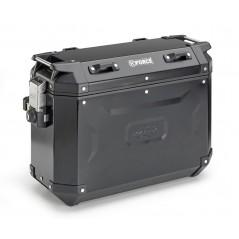 Coppia di valigie laterali Kappa in alluminio verniciato nero 37lt