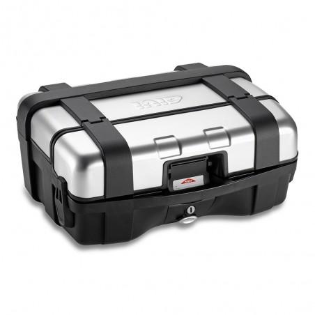 Coppia di valigie laterali GIVI Trekker TRK33N con finitura alluminio