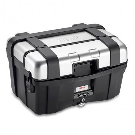 Coppia di valigie laterali GIVI Trekker TRK46N con finitura alluminio