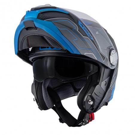 Casco Modulare GIVI X.23 Sidney Protect Titanio Opaco / Nero / Blu